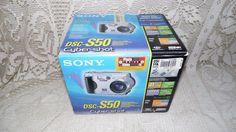 SONY DSC-S50 CYBER-SHOT DIGITAL STILL CAMERA W/BOX USB/POWER SUPPLY/DVD/PAPERS #Sony