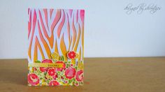 Handmade thank you floral card by Shrootzies