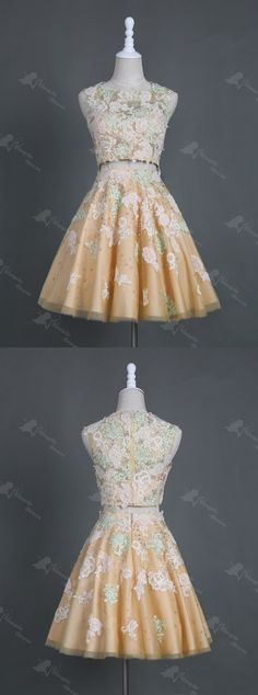 two piece homecoming dresses,lace homecoming dresses,prom dresses for teens,short prom dresses,beaded homecoming dresses