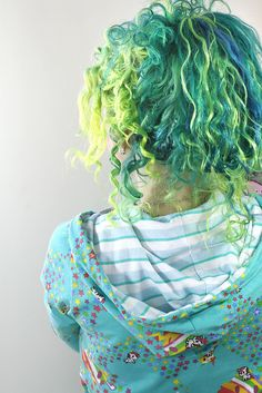 Green and Blue Hair