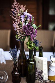 14. Lavender Wedding,Rustic decor,Field flowers / Wesele lawendowe,Rustykalne dekoracje,Polne kwiaty,Anioły Przyjęć