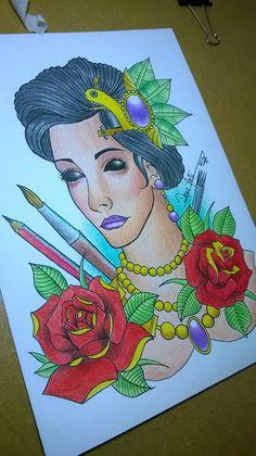 Estudo neo trad!! #Tattoo #Criação