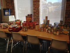 MH employees donation to the annual Kieding Office Architects 2012 Food Drive.