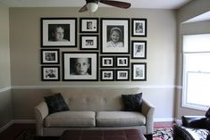 Above couch photo arrangement Photo Arrangements On Wall, Photowall Ideas, Inspiration Wand, Layout Inspiration, Photo Deco, Family Wall, Family Rooms, Home And Deco, My New Room