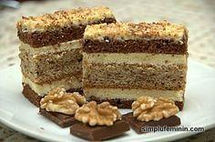 Prajitura Morena (reteta de pe Lily's cakes) Romanian Desserts, Romanian Food, Sweets Recipes, Cake Recipes, Cooking Recipes, Lily Cake, Food Cakes, Cakes And More, Cake Cookies