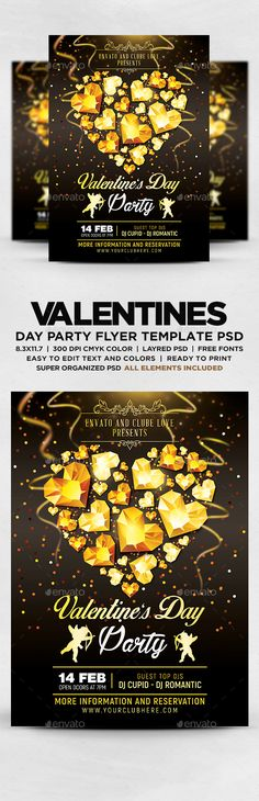 Valentines Day Party Flyer - Events Flyers
