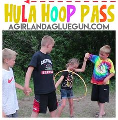 Hula Hoop Pass-fun activity – A girl and a glue gun Family Camping Games, Family Reunion Games, Family Games, Family Reunions, Group Games, Family Reunion Activities, Team Games For Kids, Games For Girls, Dr Games