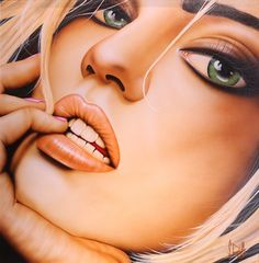 'Born This Way' Original painting by Scott Rohlfs, £4500. Available at; http://wyecliffe.com/collections/scott-rohlfs-art/products/scott-rohlfs-born-this-way-original  Call gallery on 01932 847939