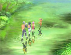 Love, love, love the fact that Kakashi = Minato and that Sasuke = Kakashi, Sakura = Rin and Naruto = Obito ; Naruto Kakashi, Anime Naruto, Naruto Team 7, M Anime, Sarada Uchiha, Naruto Cute, Naruto Shippuden Anime, Gaara, Team Minato