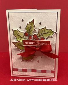 Stampin' Gala - Julie Gilson, Stampin' Up! Christmas Favors, Homemade Christmas Cards, Stampin Up Christmas, Homemade Cards, Christmas Crafts, Christmas Parties, Boxed Christmas Cards, Christmas Christmas, Xmas Cards