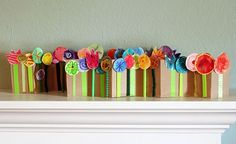 accordian fold spring flowers collage