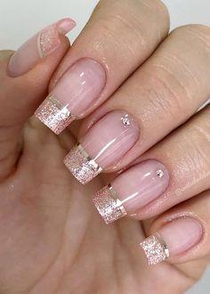Super pretty nail art designs that worth to try 21 Manicure Nail Designs, Manicure And Pedicure, Diy Nails, Cute Nails, Nail Art Designs, Jolie Nail Art, Gel Nail Extensions, Nail Designer, Bride Nails