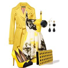 Black and yellow, created by barbarapoole on Polyvore