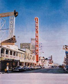 Downtown Las Vegas, from Nevada Magazine (1953)