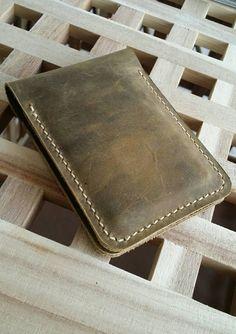 Dit item is niet beschikbaar Distressed Leather, Cowhide Leather, Passport Holders, Leather Wallet, Initials, My Etsy Shop, Card Holder, Check, Handmade