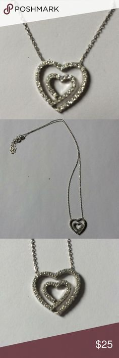 Sterling silver necklace. Brand new 925 sterling silver necklace and heart with stones. Jewelry Necklaces