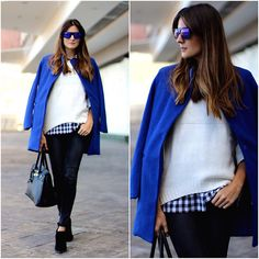 Freyrs Sunglasses, Sheinside Coat, Zara Boots, Sheinside Shirt