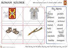 Teacher's Pet - Dress the Roman soldier (B+W) - Premium Printable Classroom Activities and Games - EYFS, KS1, KS2, ancient, rome, roman, britain, empire, british, soldiers, army