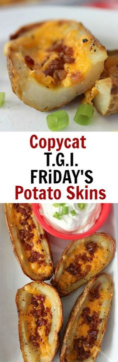 Copycat TGI Friday's Potato Skins
