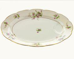 Porcelain Platter Theodore Haviland Pink Roses by PlumsandHoney