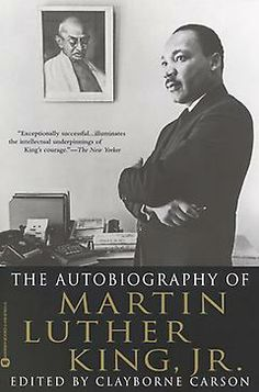 """The Autobiography of Martin Luther King, Jr. by Martin Luther King Jr. - """"A posthumous autobiography constructed out of Dr. King's writings, sermons, and speeches. Martin Luther King, Martin King, Good Books, Books To Read, Free Books, Leo, Biography Books, King Jr, Nelson Mandela"""