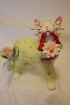 "Whimsiclay Figurine ""Dahlia"" 13027 Retired 2004 w Tag and Box | eBay"