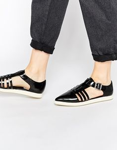 ASOS T-Bar Point Flat Shoes