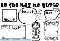Lo que más me gusta (3) Mothers Day Crafts, Fine Motor Skills, Back To School, Coloring Pages, Acting, Spanish, Preschool, Classroom, Comics