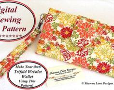Bi fold wallet sewing pattern tutorial instructions