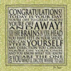 graduation quote by Dr. Seuss