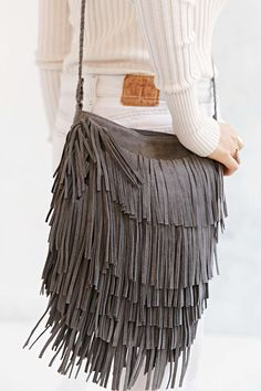 Ecote Suede Layered Fringe Crossbody Bag - Urban Outfitters $79