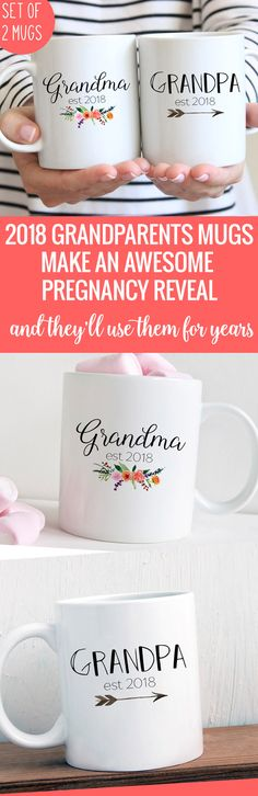 Such a fun pregnancy reveal gift for grandparents!
