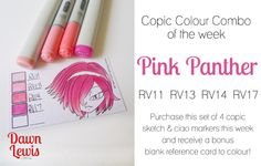 Copic Colour Combo of the week Pink Panther