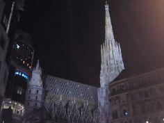 Wien Stephansplatz bei Nacht Burj Khalifa, Austria, Cathedral, Building, Travel, Night, Voyage, Buildings, Cathedrals