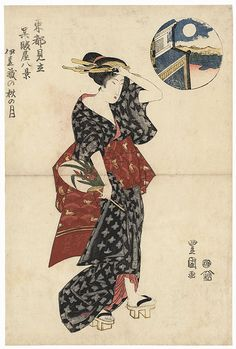 Autumn Moon, circa 1818 by Toyokuni I (1769 - 1825)