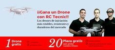 ¡Vuelve el sorteo para ganar un #Drone #Gratis! Para todos los Drone Aficionados y los que nunca hayan volado un Drone, volvemos con el sorteo de RcTecnic para Ganar un Drone Gratis y volar con nuestros pilotos especializados. ¡Apúntate aquí y Gana con RcTecnic! http://www.rctecnic.com #droneconcámara #radiocontrol #hobby #drones #dronedeiniciación #minidrone #sundayfunday #fiesta #eventos