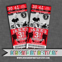 CHICAGO Blackhawks - HOCKEY Ticket Birthday Invitation - Choose your favorite NHL team!