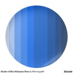 Shades of Blue Melamine Plate