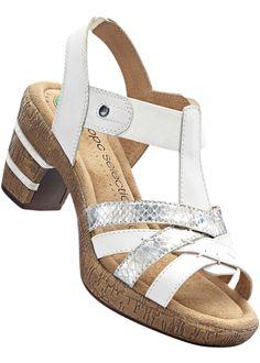Beställ Sandalett i G-vidd vit/silver - bpc selection nu från 499.- kr i online-butiken på bonprix.se Bekväm och stilfull. Slip-in-modell. Klackhöjd: 7,5 ...