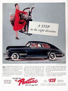 Objective Original 1941 Print Ad Pontiac Big Car For $828 Sedan Vintage Art Torpedo Buy Now Advertising Advertising-print