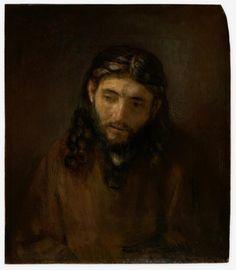 """Head of Christ,"" c. 1648–56, by Rembrandt - Philadelphia Museum of Art"