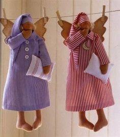 ARTESANATO COM QUIANE - Paps,Moldes,E.V.A,Feltro,Costuras,Fofuchas 3D: Molde Tilda de pijama