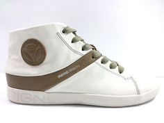 #Momodesign #sneakersalto #pelle #bianco #marrone #uomo #zooode