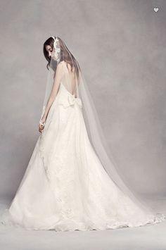 f04148871744 White By Vera Wang, Scalloped Edge, White Wedding Dresses, Bridesmaid  Dresses, Bridesmaids