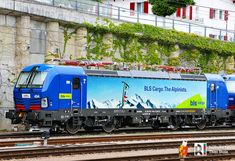 [CH] BLS Cargo design for Hupac 193 494 and 495 #Europe #Rail #France Electric Locomotive, Diesel Locomotive, Third Rail, Swiss Railways, Continental Europe, Electric Train, Energy Storage, Germany, Italy