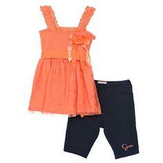 "Applique ideas. Guess ""Lace is the Place"" 2-Piece Outfit (Sizes 2T - 4T) $36.99"