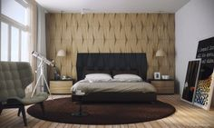 The Wood Wall Behind The Bed