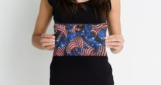 """Stars and Stripes Patriotic Curls"" Studio Pouches"