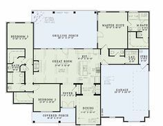 Houseplans.com Country / Farmhouse Main Floor Plan Plan #17-2400