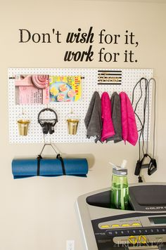 Organized Exercise Corner-22 clearly needs some changes, but I love the idea!